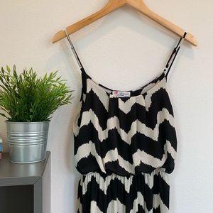 Dresses & Skirts - Cream and Black Maxi Dress